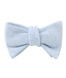 Sky Blue Donegal Linen Self Tied Bowtie