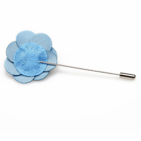 Sky Blue Mini Velvet Lapel Pin
