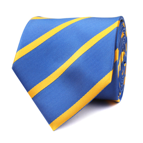Sky Blue Tie with Yellow Stripe