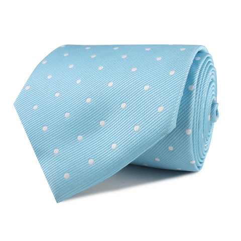 Sky Blue with White Polka Dots Necktie