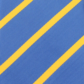 Sky Blue Pocket Square with Yellow Stripe