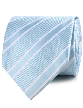 Sky Light Blue Double Stripe Necktie