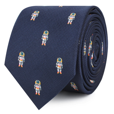 Sky Walker Space Suit Skinny Tie