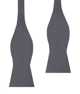 Slate Grey Charcoal Basket Weave Self Bow Tie