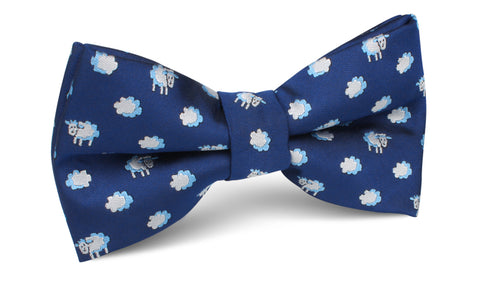 Sleepy Sheep Blue Bow Tie
