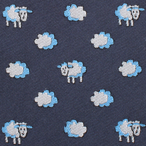 Sleepy Sheep Grey Kids Bow Tie
