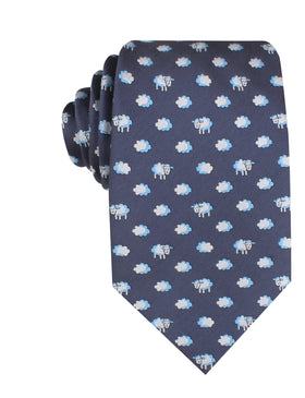 Sleepy Sheep Grey Necktie