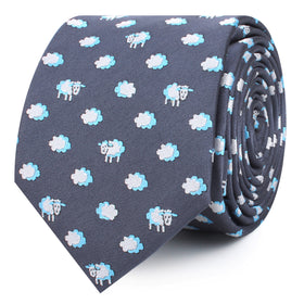 Sleepy Sheep Grey Skinny Tie