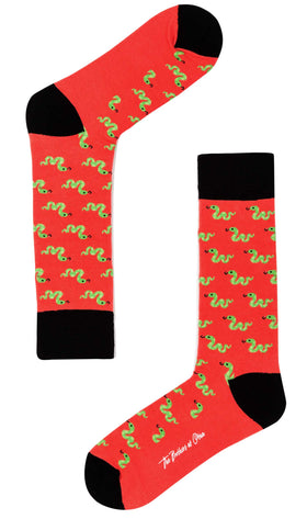 Snake In The Grass Lava Socks