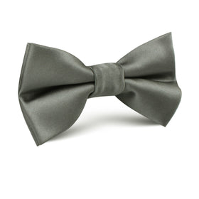 Soft Charcoal Crisp Satin Kids Bow Tie