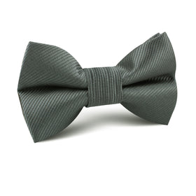 Soft Charcoal Crisp Twill Kids Bow Tie