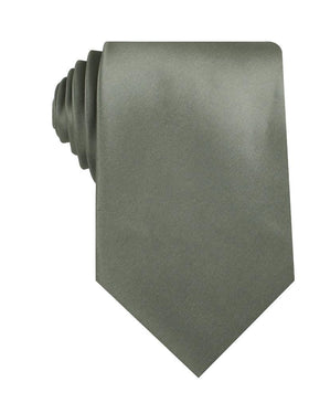 Soft Charcoal Crisp Satin Necktie