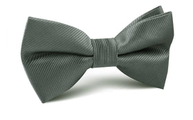 Soft Charcoal Crisp Twill Bow Tie
