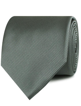 Soft Charcoal Crisp Twill Necktie