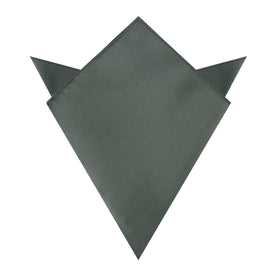Soft Charcoal Crisp Twill Pocket Square