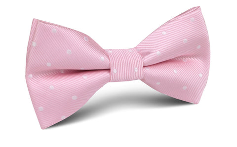Soft Pink Polka Dots Bow Tie