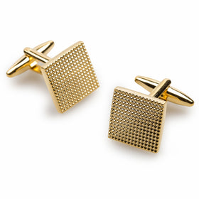 Soho Square Studded Gold Cufflinks