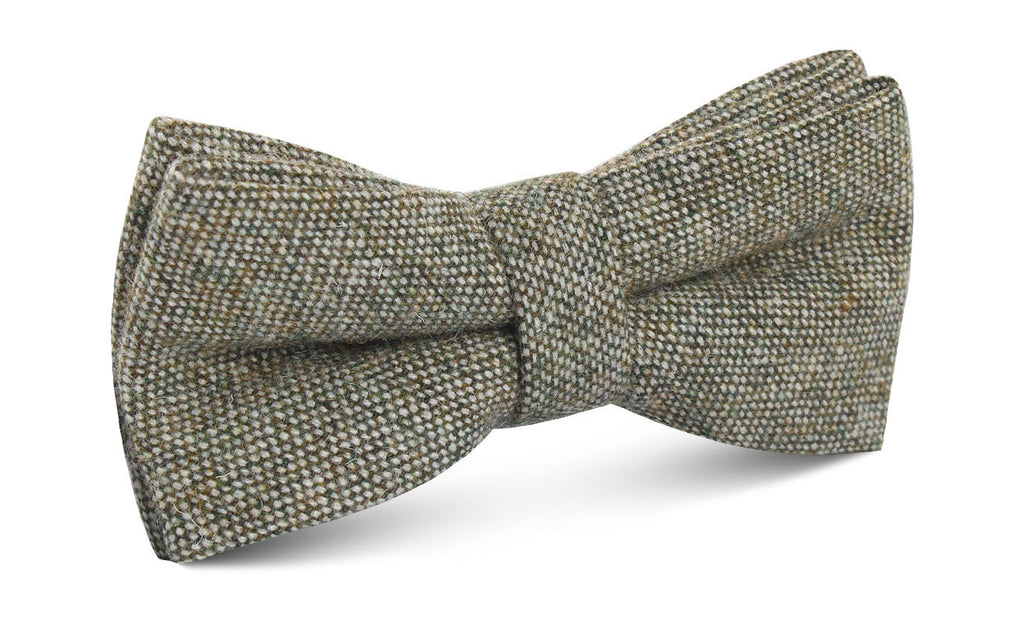 Southdown Donegal Green Wool Bow Tie