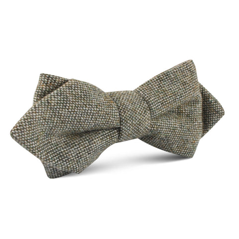 Southdown Donegal Green Wool Diamond Bow Tie