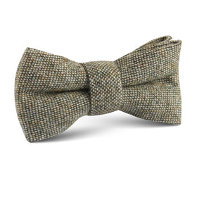 Southdown Donegal Green Wool Kids Bow Tie