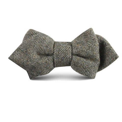 Southdown Donegal Green Wool Kids Diamond Bow Tie