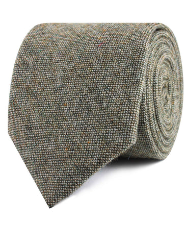 Southdown Donegal Green Wool Tie