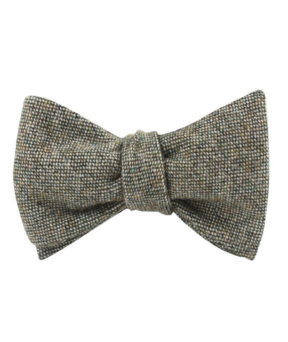 Southdown Donegal Green Wool Self Bow Tie