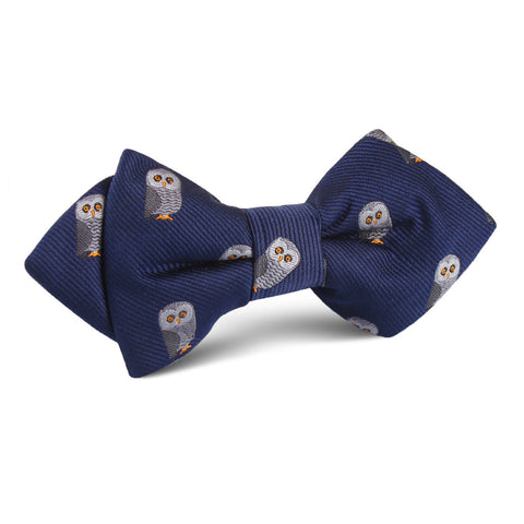 Southern Grey Owl Diamond Bow Tie