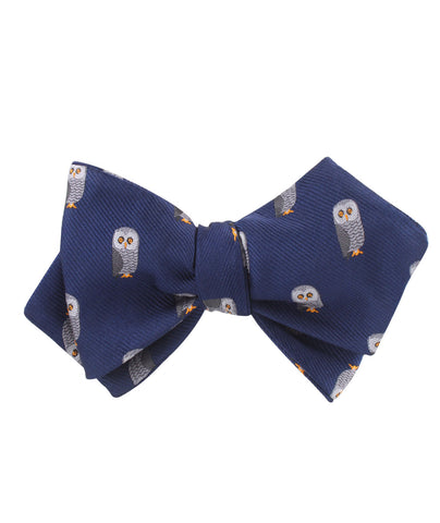 Southern Grey Owl Diamond Self Bow Tie
