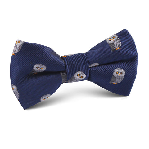 Southern Grey Owl Kids Bow Tie