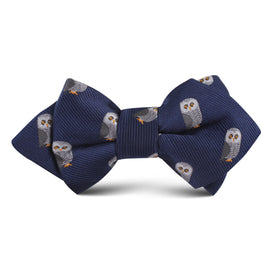Southern Grey Owl Kids Diamond Bow Tie