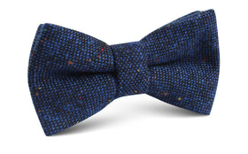 Speckles on Blue Donegal Bow Tie