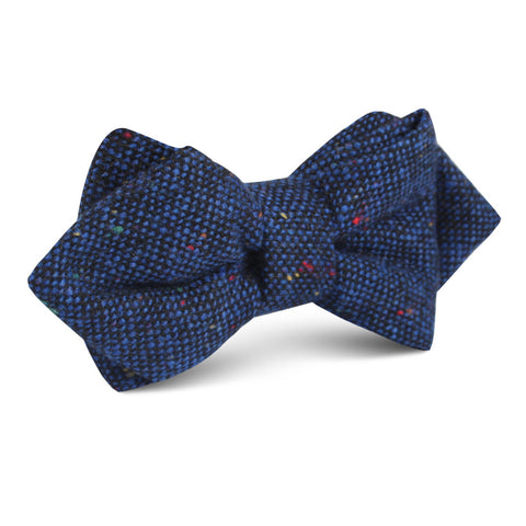 Speckles on Blue Donegal Diamond Bow Tie