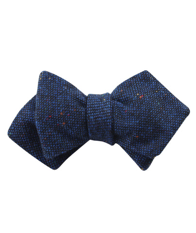 Speckles on Blue Donegal Diamond Self Bow Tie