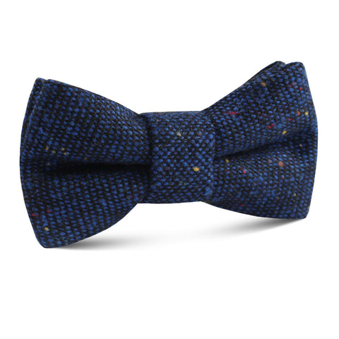 Speckles on Blue Donegal Kids Bow Tie