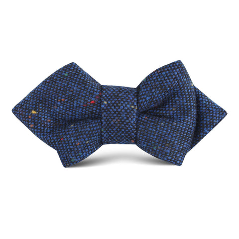 Speckles on Blue Donegal Kids Diamond Bow Tie