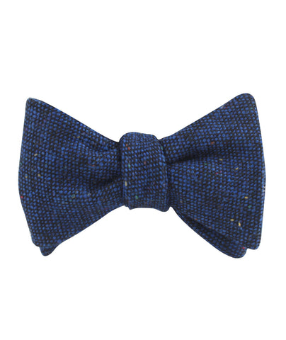 Speckles on Blue Donegal Self Bow Tie