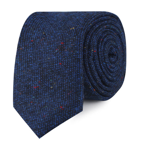 Speckles on Blue Donegal Skinny Tie