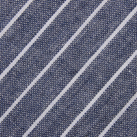 Starry Night Blue Pinstripe Linen Pocket Square