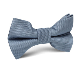 Steel Blue Weave Kids Bow Tie