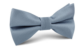 Steel Blue Weave Bow Tie