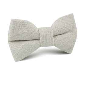Sterling Silver Grey Linen Kids Bow Tie