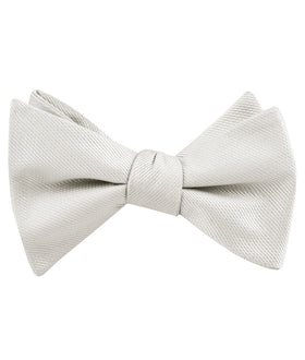 Sterling Silver Mist Weave Self Bow Tie