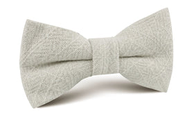 Sterling Silver Grey Linen Bow Tie