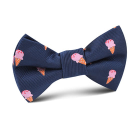 Strawberry Ice Cream Kids Bow Tie