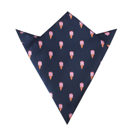 Strawberry Ice Cream Pocket Square