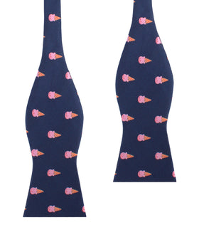 Strawberry Ice Cream Self Bow Tie