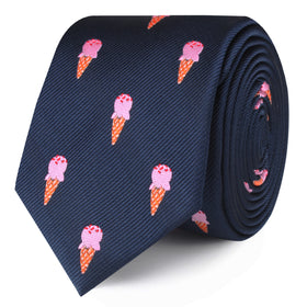 Strawberry Ice Cream Skinny Tie