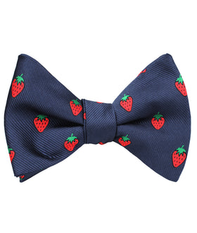 Strawberry Self Bow Tie