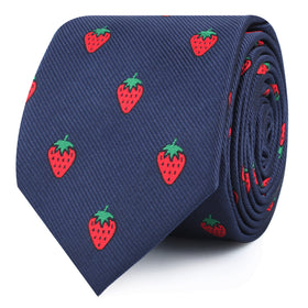Strawberry Skinny Tie